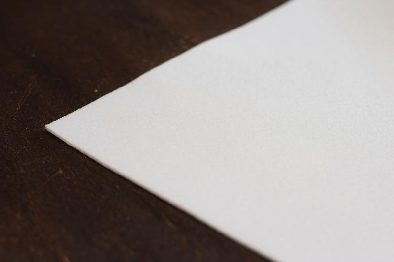 下敷き 半紙サイズ 白 2mm
